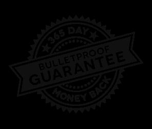 365 Day Money Back Bulletproof Guarantee badge